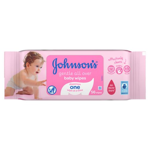 Johnson's® Baby Gentle All Over Baby Wipes 56 pack