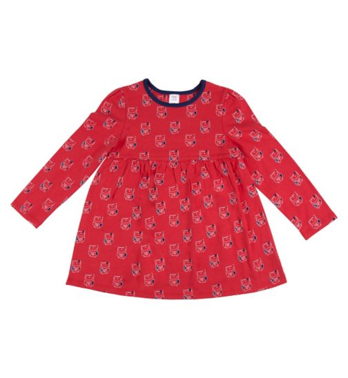 Mini Club Girls Tunic Red Owl
