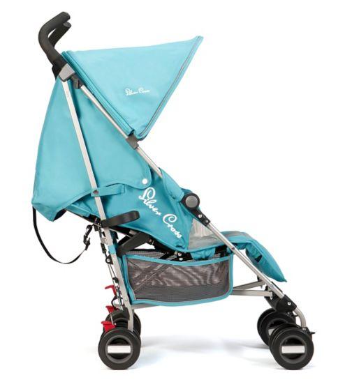 Silver Cross Zest Stroller - Aqua Starfish