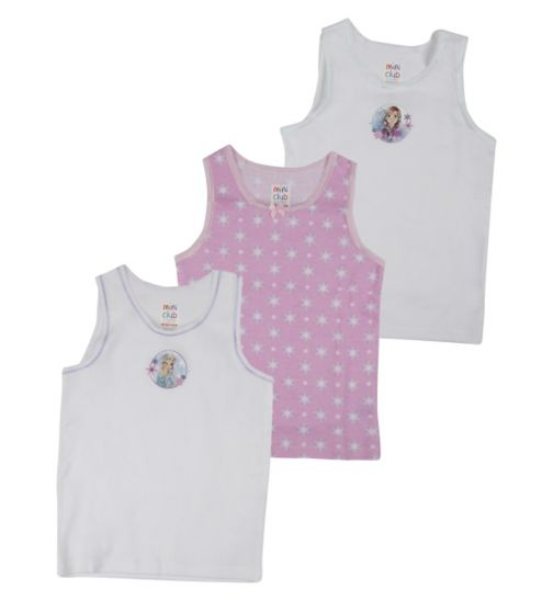 Mini Club Girls Vest Frozen 3 Pack