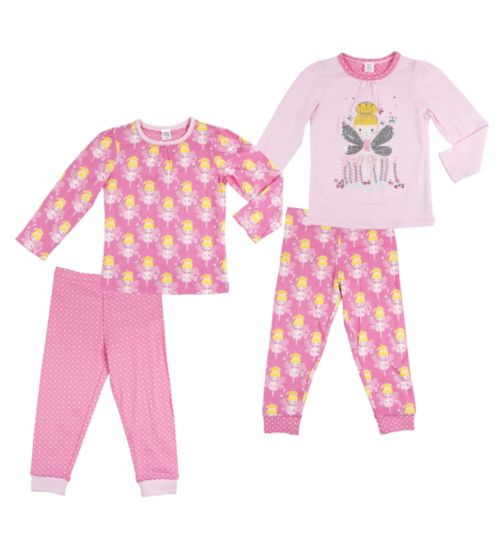 Mini Club Girls Pyjamas Fairy Princess Ballerina 2 pack