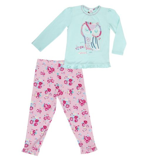 Mini Club Girls Owl Pyjamas