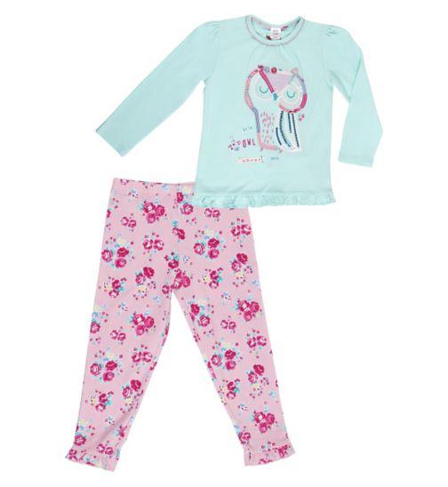 Mini Club Girls Owl Pyjamas
