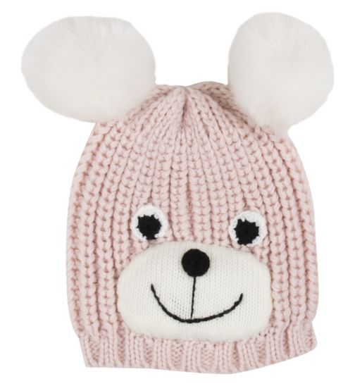 Mini Club Girls Bear Hat Pink