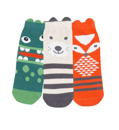 Mini Club Boys Socks 3 Pack Animals