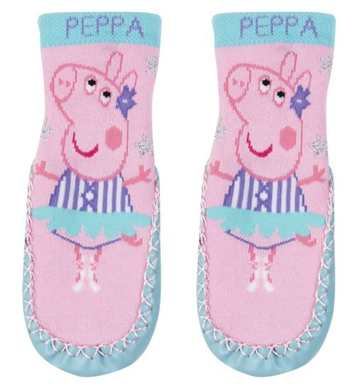Mini Club Peppa Pig slipper sock
