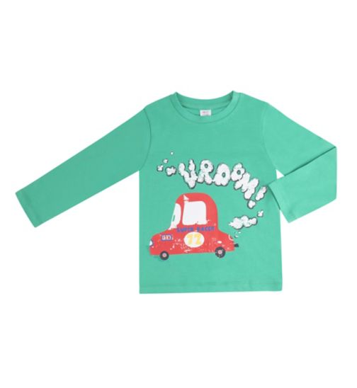 Mini Club Boys Car Graphic Top Green