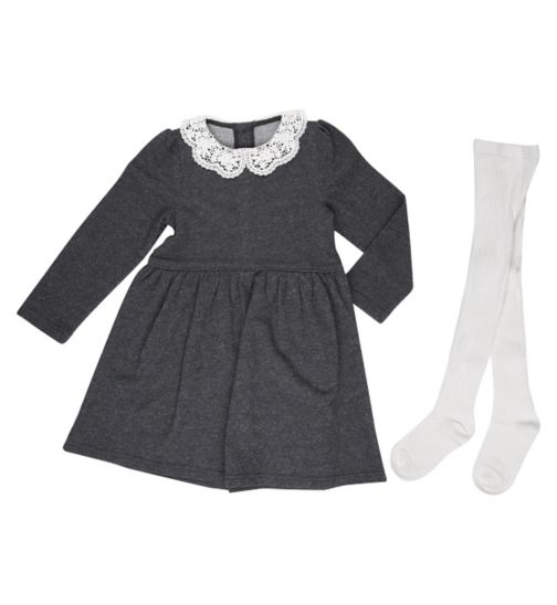 Miniclub Girls All Dressed Up Dress & Tights Set