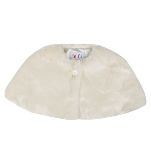 Mini Club Girls Faux Fur Bolero Cream
