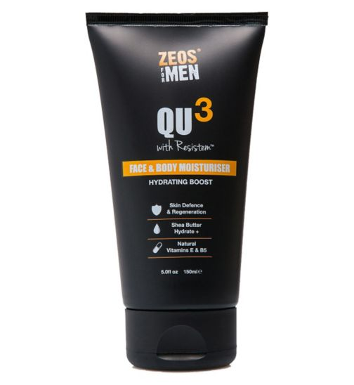 ZEOS® QU3 Face and Body Moisturiser with Resistem