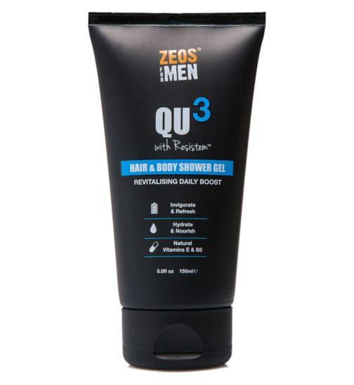 ZEOS® For Men QU3 Hair & Body Shower Gel