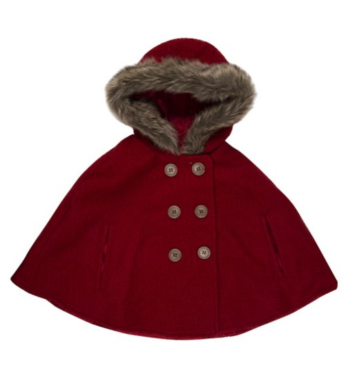 Mini Club Girls Cape Red