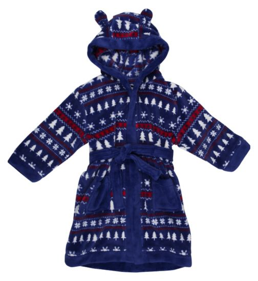 Mini Club Boys Christmas Dressing Gown Blue