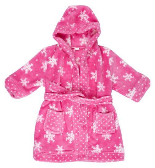 Mini Club Girls Christmas Dressing Gown Pink