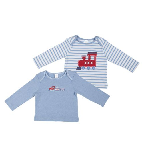 Mini Club Baby Boys 2 Pack Tops Blue