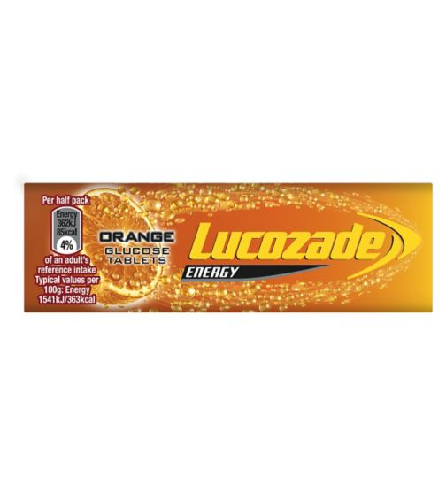 Lucozade Energy Orange Glucose Tablets 47g