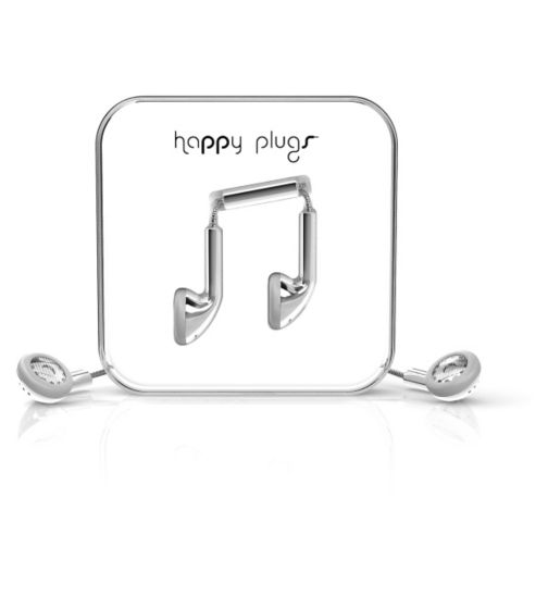 Happy Plugs Ear Phone Earbud - Silver
