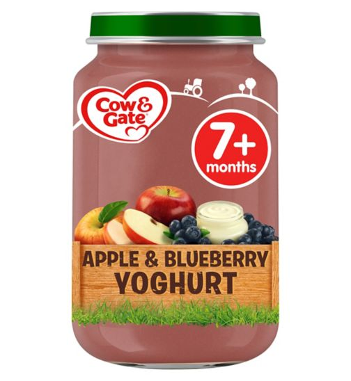 Cow & Gate Apple & Blueberry Yoghurt from 7m Onwards 200g