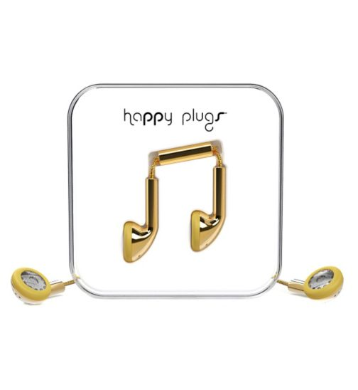 Happy Plugs Ear Phone Earbud - Gold