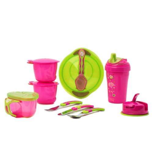 Bowls & Plates Bpa Free New Sturdy Construction Tommee Tippee Essential 2 X Feeding Plates 12 Mths Cups, Dishes & Utensils
