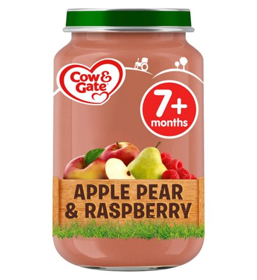 Cow & Gate Apple, Pear & Raspberry from 7m Onwards 200g