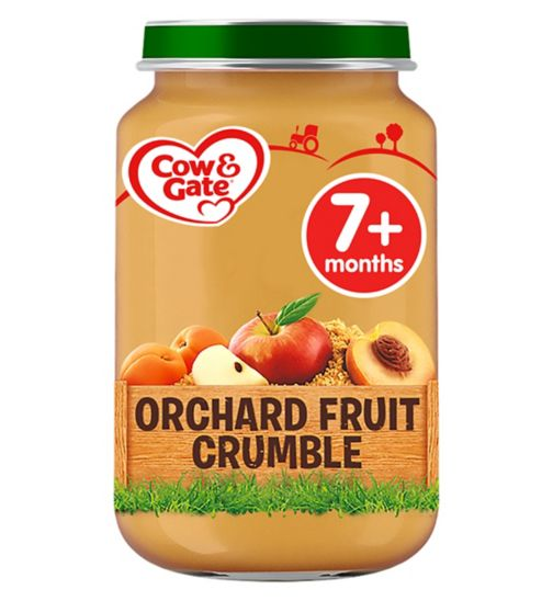 Cow & Gate Orchard Fruit Crumble from 7m Onwards 200g