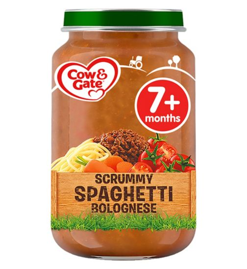Cow & Gate Scrummy Spaghetti Bolognese from 7m Onwards 200g