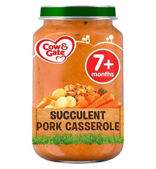Cow & Gate Succulent Pork Casserole from 7m Onwards 200g