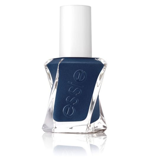 essie Gel Couture 390 Surrounded by Studs Dark Blue Nail Polish