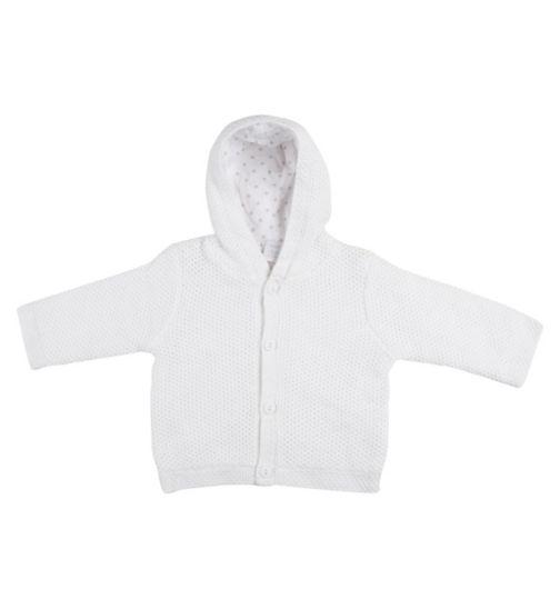 Mini Club Baby Hooded Cardigan White