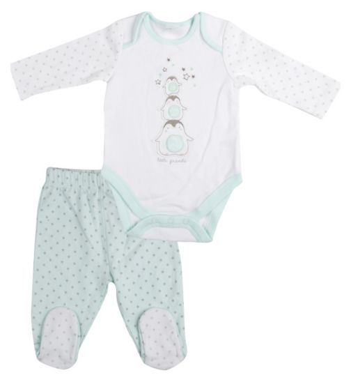 Mini Club Baby Long Sleeve Bodysuit and Bottoms Set