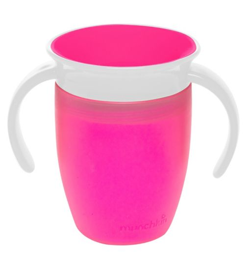 Munchkin 7oz Miracle® 360° Trainer Cup Pink