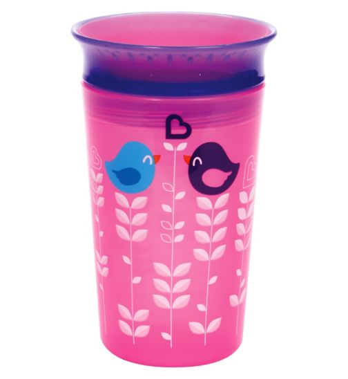 Munchkin 9oz Miracle® 360° Deco Sippy Cup Pink Bird