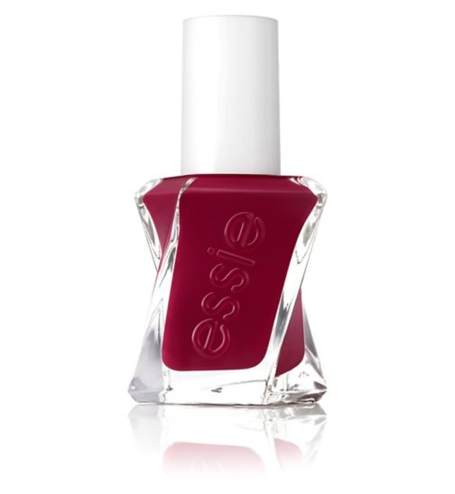 essie Gel Couture 340 Drop The Gown Dark Red Nail Polish