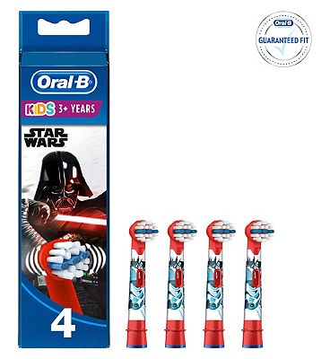 Oral B Power Replacement Electric Toothbrush Heads Star Wars x 4