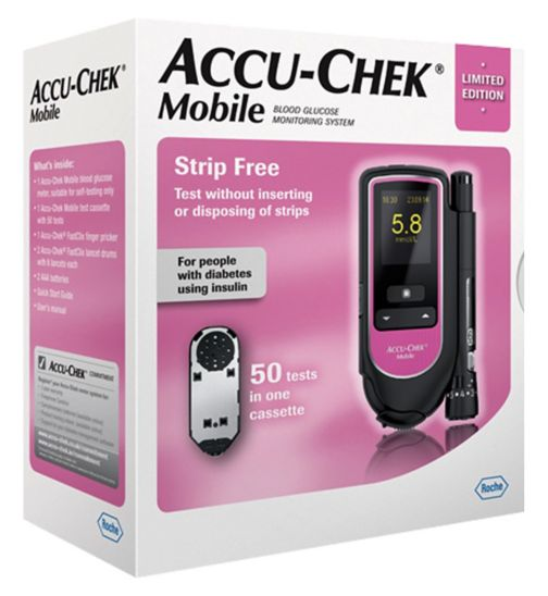 Accu-Chek Mobile Blood Glucose Monitoring System - Pink