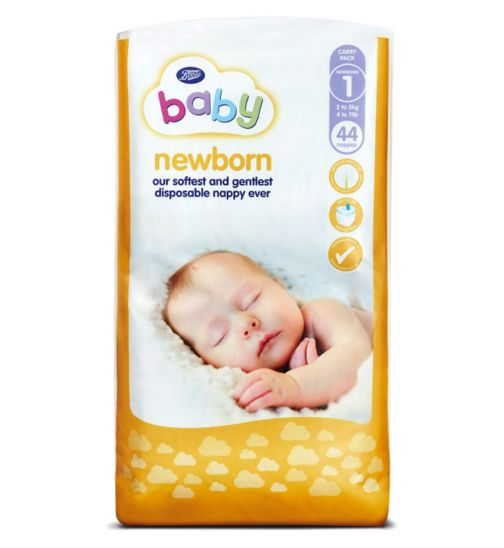 Boots Baby Newborn Nappies Carry Pack Size 1 - 44 Nappies