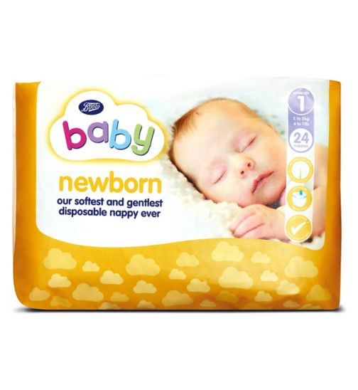 Boots Baby Newborn Nappies Size 1 - 24 Nappies
