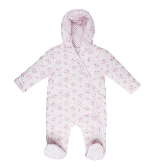 Mini Club Baby Pramsuit Pink Floral