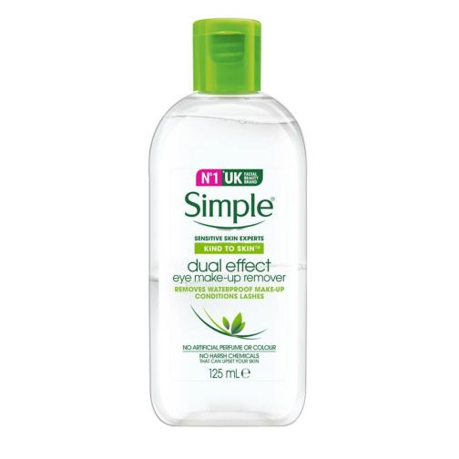 Simple Kind To Skin Dual Effect Eye Make-Up Remover 125ml