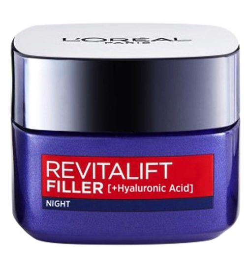 L'Oreal Paris Revitalift Filler Hyaluronic Acid Anti Ageing Night Cream 50ml