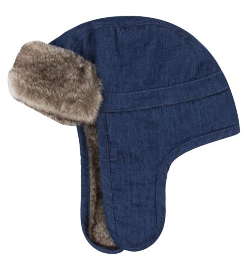 Mini Club Baby Boys Trapper Hat Blue