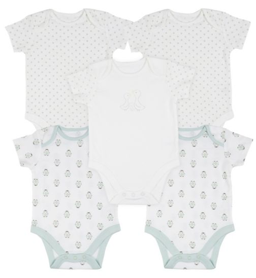 Mini Club Baby 5 Pack of Short Sleeve Bodysuits