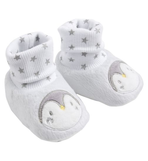Mini Club Baby Shoes White Penguin