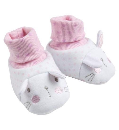 Mini Club Baby Girls Bunny Booties White