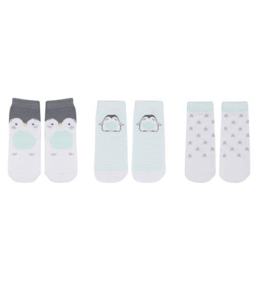 Mini Club Baby Pack of 3 Penguin Socks