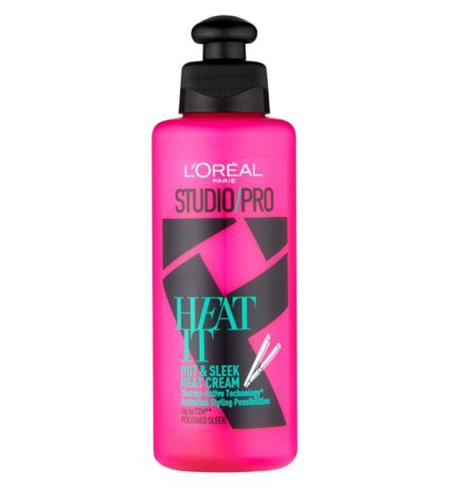 L'Oreal Paris Studio Pro Heat It Hot & Sleek Heat Protection Cream 150ml