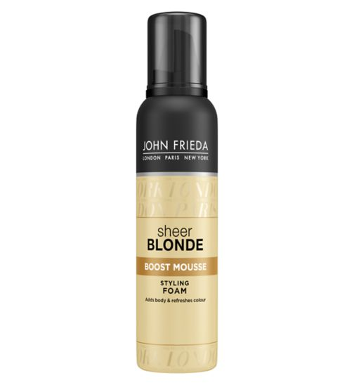 John Frieda Sheer Blonde boost mousse styling foam 200ml
