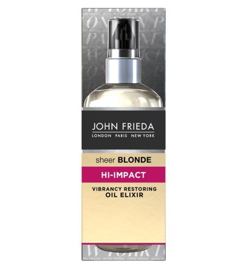John Frieda Sheer Blonde hi impact oil elixir 100ml