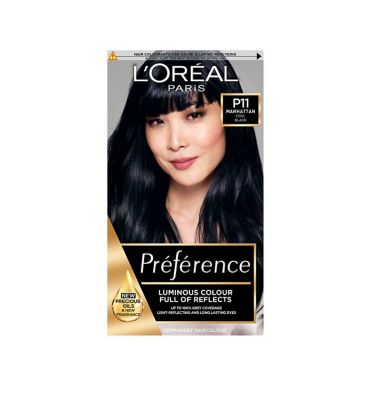 Preference P11 Deeply Wicked Black Permanent Hair Dye by L'oreal